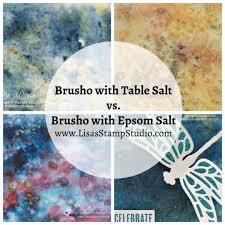 epsom salt vs table salt quick crafting tip brusho with table salt versus epsom salt
