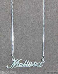 Sterling Silver Name Necklaces 925 Sterling Silver Name Necklace Name Plate Melissa 17