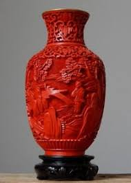 Red Lacquer Vase Antique 50 100 Layer Red Cinnabar Chinese Hand Carved Lacquer Vase