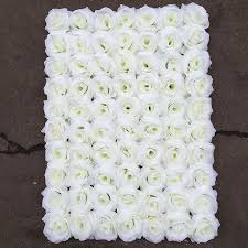 wedding backdrop flowers silk white flower wall decor backdrop for wedding