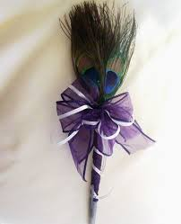 guest book and pen peacock feather pen wedding guest book pen amorebride on artfire