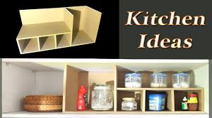 diy kitchen organization ideas diy spice organizer from cardboard kitchen organization ideas