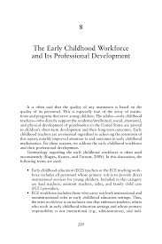 Construction Superintendent Resume Examples by 8 The Early Childhood Workforce And Its Professional Development