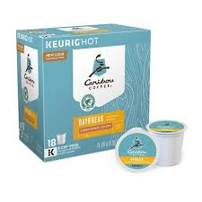 keurig k cups light roast caribou coffee daybreak morning blend light roast coffee k cup