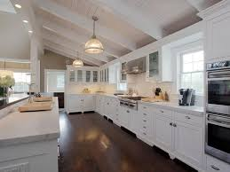 Can Lights For Vaulted Ceilings by Contemporary Kitchen With Full Backsplash Flat Panel Cabinets