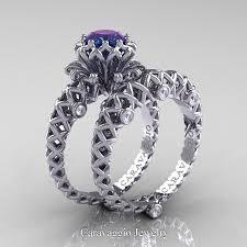 diamond rings wedding images Caravaggio lace 14k white gold 1 0 ct alexandrite diamond jpg
