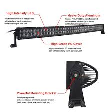 High Intensity Led Light Bar by Inch 300w Led Curved Spot Flood Work Light Bar Offroad Ute 4wd 4x4