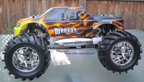 nitro monster truck rc monster nitro truck 1 8 scale radio control 4wd 2 4g 08304