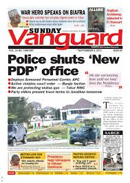police shuts u0027nes pdp u0027 office by vanguard media limited issuu