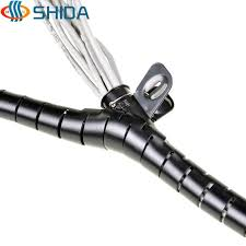 40mm dia 3m 3 color cable sleeve spiral wrapping pe line pipe