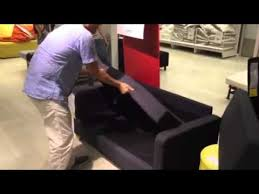 Sofa Come Bed Ikea by Ikea Sofabed Youtube
