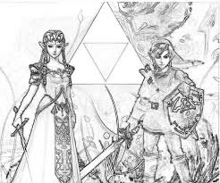 legend zelda coloring pages printable link gekimoe u2022 107009