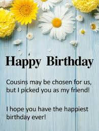 wishing you a incredible year happy birthday card for cousin