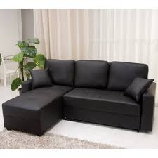 L Shaped Sofa by Black Leather L Shape Sofa With Three Seat Combined With Cushions