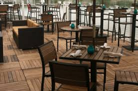 Outdoor Restaurant Chairs Reclaimed Round Restaurant Table With 2 Industrial Chairs Rustic