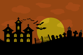 background halloween art background halloween cemetery illustrations creative market