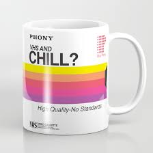 Cofee Mugs Vhs And Chill Coffee Mug By Anthony Troester Society6