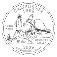 coloring pages quarter muir yosemite california state quarter coin muir exhibit