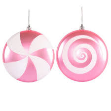 pink swirl ornaments 4 75 inch 4 box