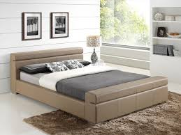 Double Faux Leather Bed Frame by Furniturekraze Ltd Durham Faux Leather Bed Stone