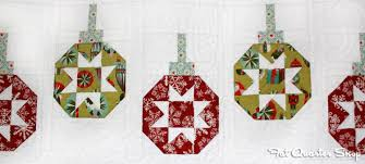 deck ade the halls vintage ornaments the jolly jabber quilting