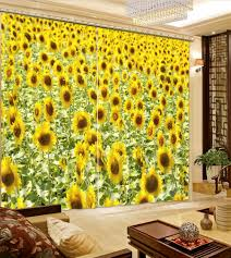 sunflower valance kitchen curtains home gallery including for