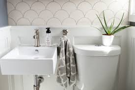 white modern morocco bathroom custom tile mercury mosaics