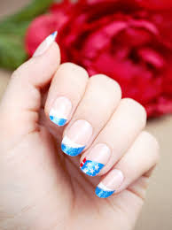 red white and blue patriotic nail art for 4th of july