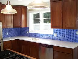 Blue Glass Tile Kitchen Backsplash Tile Backsplash Kitchen Blue - Blue glass tile backsplash