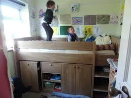 Mid Sleeper Bunk Bed Desk Ergonomic Bedroomsl Shaped Bunk Beds L