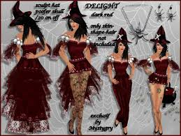 Red Witch Halloween Costume Marketplace Delight Red Witch Costume Velvet
