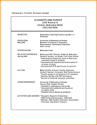 Job Interview Resume Format Pdf by 7 Resume Format For Teachers Pdf Inventory Count Sheet