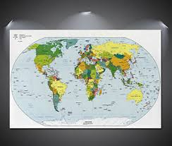 printable world map a1 world map giant poster a0 a1 a2 a3 a4 sizes ebay