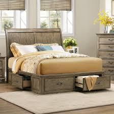 Sleigh Platform Bed Frame by Homelegance Sylvania Eastern King Platform Bed With Storages In