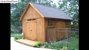 Diy Garden Shed Designs by Diy Storage Shed Plans Youtube
