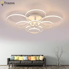 round 40w led ceiling light fixture l bedroom kitchen new style acrylic ceiling l creative art circular led ceiling
