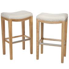 Furniture Bar Stool Chairs Backless amazon com best selling andres backless bar stools off white