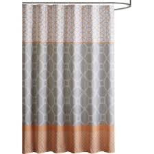 Orange Shower Curtains Orange And Gray Shower Curtain Curtains Ideas
