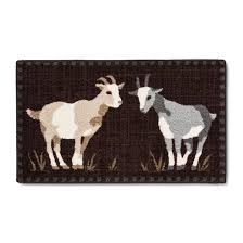 Target Kitchen Floor Mats Brown Goats Kitchen Rug 20 X34 Beekman 1802 Farmhouse Target