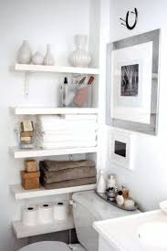 creative diy bathroom counter organizer wall mounted steel faucet