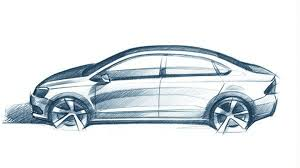 volkswagen drawing 2012 vw polo v sedan design sketch allegedly leaked