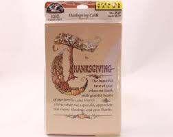 vintage thanksgiving card etsy