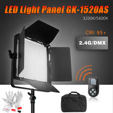 led studio lighting kit tolifo 1520 led video light panel kit cri95 3200k 5600k 90w