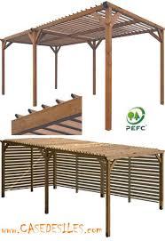 tonnelle de jardin en bois en bois rectangulaire amazone 79 pas cher