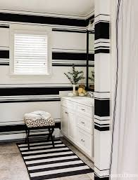 Black And White Bathroom Design Ideas Colors Best 20 Striped Bathroom Walls Ideas On Pinterest Stripe Walls