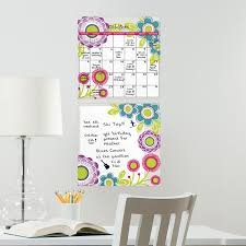 wall pops poppy dry erase board calendar combo 2 pc wall decals