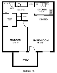 fascinating one bedroom apartment floor plans typical layout