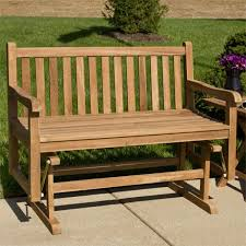 jakie 4 ft teak outdoor glider bench outdoor