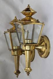 vintage solid brass carriage house lantern wall mount porch or