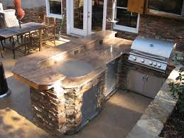Outside Kitchen Island by Outdoor Kitchen Man